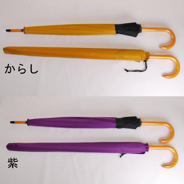 和傘_傘袋からし紫